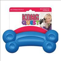 Brinquedo Interativo Kong Quest Bone com Dispenser para Petisco - Azul Brinquedo Interativo Kong Que