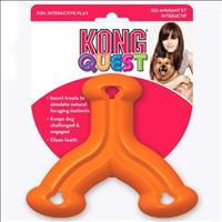 Brinquedo Interativo Kong Quest Wishbone com Dispenser para Petisco - Laranja Brinquedo Interativo K
