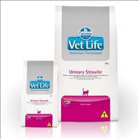 Ração Farmina Vet Life Urinary Struvite para Gatos Adultos com Distúrbios Urinários - 7,5kg