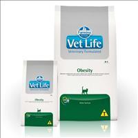 Ração Farmina Vet Life Obesity para Gatos Adultos Obesos - 2kg