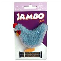 Brinquedo Jambo Galinha Refilable com Catnip