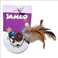 Brinquedo Jambo Pássaro com Pena e Catnip