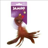 Brinquedo Jambo Galinha Pena com Catnip