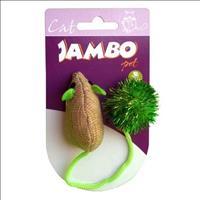 Brinquedo Jambo Ratinho de Rabo Comprido com Catnip