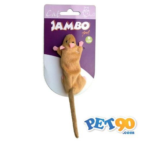 Brinquedo Jambo Skin Mice com Catnip - Bege