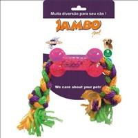 Brinquedo Jambo Tpr Osso Corda - Rosa