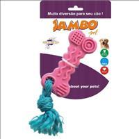 Brinquedo Jambo Tpr Ossinho - Rosa