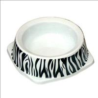 Comedouro Jambo Tigela Plástica para Gatos - Zebra