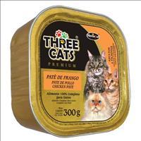 Ração Hercosul Three Cats Patê de Frango para Gatos Adultos e Filhotes - 300gr