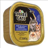 Ração Hercosul Three Cats Patê de Atum e Sardinha para Gatos Adultos e Filhotes - 300gr