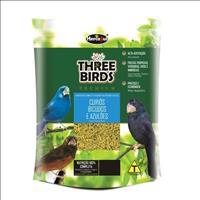 Ração Hercosul Three Birds Premium para Curiós, Bicudos e Azulões Adultos - 300gr