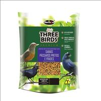Ração Hercosul Three Birds Premium para Sabiás, Pássaros Pretos e Frades Adultos - 500gr