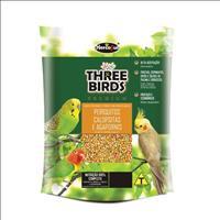 Ração Hercosul Three Birds Premium para Periquitos, Calopsitas e Agapornis Adultos - 300gr
