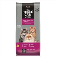 Ração Hercosul ThreeCats Especial Salmão, Frango e Carne para Gatos Adultos - 8kg