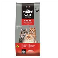 Ração Hercosul ThreeCats Especial Carne para Gatos Adultos - 8kg