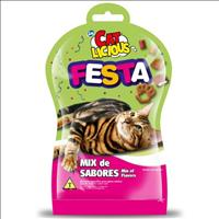 Petisco Total Cat Licious Festa Mix de Sabores - 40gr