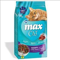 Ração Total Max Cat Nuggets de Carne, Frango e Peixe para Gatos Adultos - 3kg