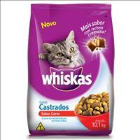 Ração Whiskas Carne para Gatos Castrados - 10,1kg