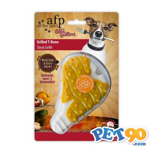 Brinquedo Afp Pet com Aroma de Bisteca Grilled T-Bone - Caramelo com Mel