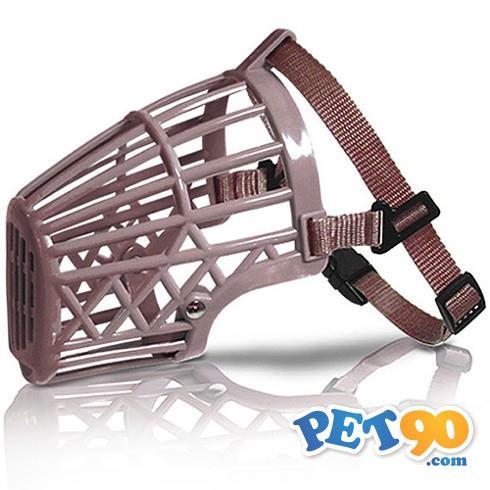 Focinheira Plástica American Pets - Bege Focinheira Plástica American Pets Bege - Tam. 3