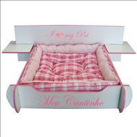 Cama Mobili Pet Desmontável Cabeceira Box - Rosa