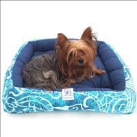 Cama Pickorruchos Comfort Mosaico - Azul Cama Pickorruchos Comfort Mosaico Azul - Tam P