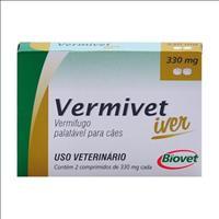 Vermífugo Biovet Vermivet Iver 330mg para Cães - 2 Comprimidos