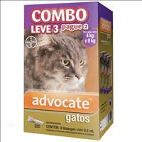 Anti Pulgas Combo Advocate Bayer para Gatos de 4kg a 8kg - 0,8ml