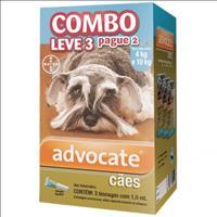 Anti Pulgas Combo Advocate Bayer para Cães de 4kg a 10kg - 1,0ml