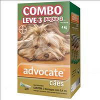 Anti Pulgas Combo Advocate Bayer para Cães de até 4kg - 0,4ml