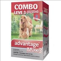Anti Pulgas e Carrapatos Combo Advantage MAX3 G para Cães de 10kg a 25 kg - 2,5ml