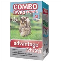 Anti Pulgas e Carrapatos Combo Advantage MAX3 M para Cães de 4kg a 10kg - 1ml