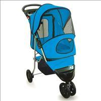 Carrinho Chalesco Confort Ride para Cachorro ou Gato - Azul
