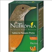 Ração Nutrópica para Sabiá & Pássaro Preto Ração Nutrópica para Sabiá e Pássaro Preto - 300gr
