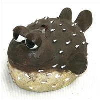 Enfeite de Aquário Craft Peixe Baiacu