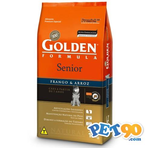 Ração Premier Golden Formula Cães Sênior Frango e Arroz - 15kg