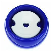 Bebebouro Plástico Especial para Cães de Pelo Longo de 1 Litro - Azul