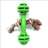 Halteres Maciço de Borracha com Corda - Verde
