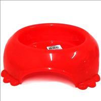 Comedouro Plástico Pata Furacão Pet - Vermelho Comedouro Plástico Pata Vermelho Furacão Pet - 290ml