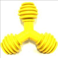 Brinquedo Triângulo de Borracha Furacão Pet - Amarelo Brinquedo Triângulo de Borracha Amarelo - Tam