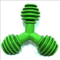 Brinquedo Triângulo de Borracha Furacão Pet - Verde Brinquedo Triângulo de Borracha Verde - Tam M