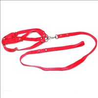 Conjunto Guia de Seda com Peitoral Furacão Pet - Vermelho Conjunto Guia de Seda com Peitoral Vermelh