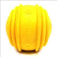 Bola Maciça com Friso Furacão Pet - Amarelo Bola Maciça com Friso Amarelo Furacão Pet - 85mm