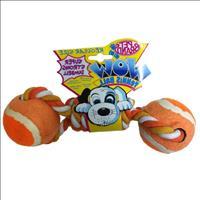 Brinquedo Mordedor Bolas e Corda WOW - Laranja Brinquedo Mordedor Bolas e Corda WOW Laranja - Grande
