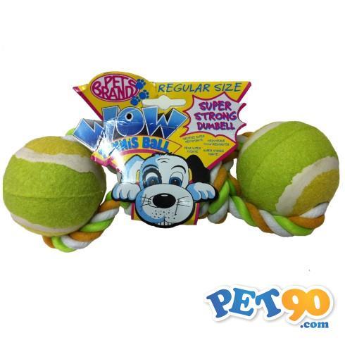 Brinquedo Mordedor Bolas e Corda WOW - Amarelo Brinquedo Mordedor Bolas e Corda WOW Amarelo - Grande