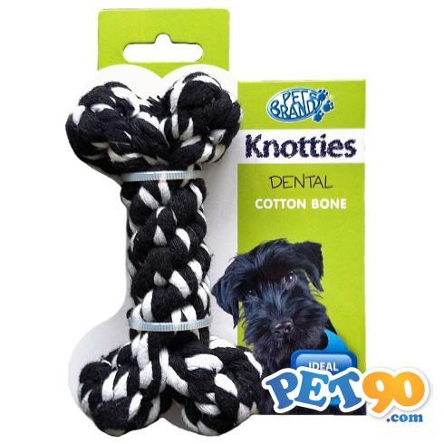 Brinquedo Ossinho de Corda Knottie - Preto Brinquedo Ossinho de Corda Knottie Preto - Pequeno