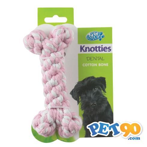 Brinquedo Ossinho de Corda Knottie - Rosa Brinquedo Ossinho de Corda Knottie Rosa - Medio