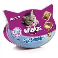 Petisco Whiskas Temptations Pelo Saudável - 40gr