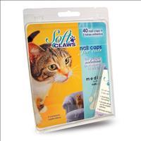 Unha Postiça para Gatos Soft Claws Natural com 10 unidades - Tam G