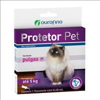 Anti Pulgas Ouro Fino Protetor Pet de 0,48 mL para Gatos